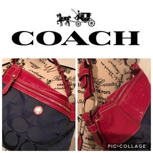 🔥FREE SHIPPING🔥 COACH Laura Signature Hobo Bag